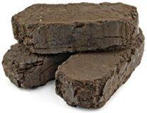 Fuel peat briquettes